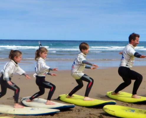 simon coaching family how to surf