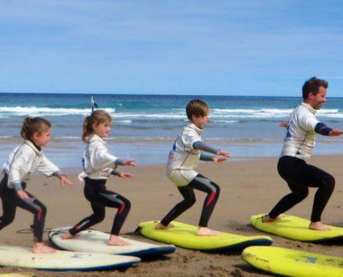 simon coaching family how to surf