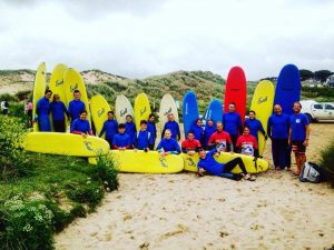 surf lesson at cornwall leading surf school