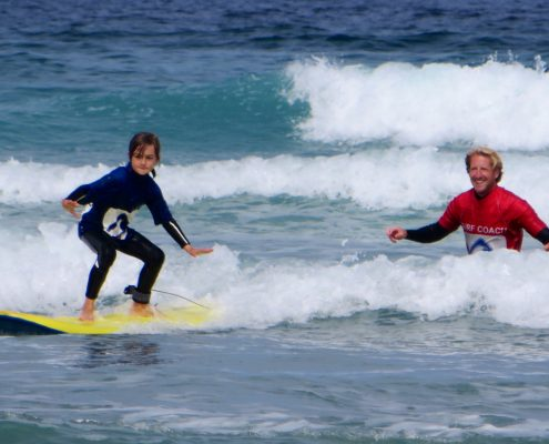 kids surf lessons