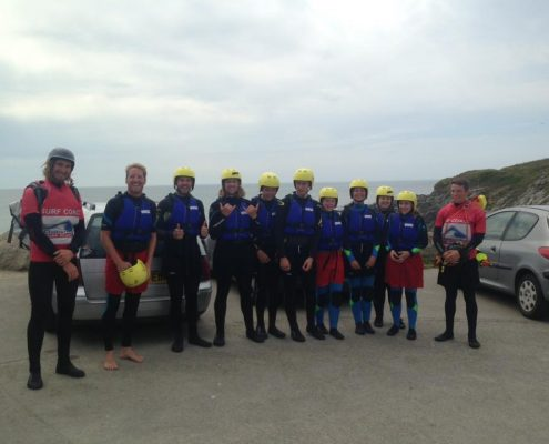 NEWQUAY COASTEERING WITH CORNWALL SURF ACADEMY